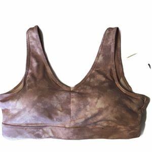 Old Navy Lilac/White Tye Dyed Sports Bra - Size L